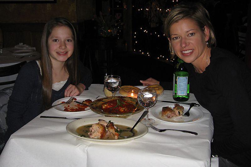 GF dinner at Sambuca